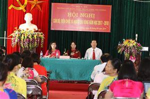 Hội nghị Cán Bộ, Viên Chức và người Lao Động năm học 2017 - 2018