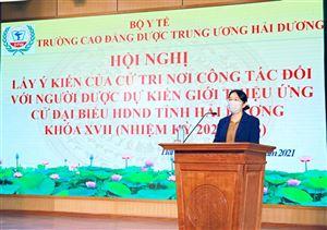 Hội nghị lấy ý kiến cử tri đối với người được giới thiệu ứng cử đại biểu HĐND Tỉnh HD nhiệm kỳ 2021-2026