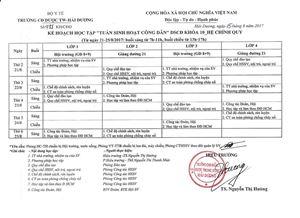 Kế hoạch tuần sinh hoạt công dân DSCĐ khoá 10