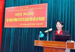 Tập huấn một số thông tư của Bộ Lao động - Thương binh và Xã hội
