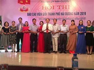 Hội thi Báo cáo viên giỏi Thành phố Hải Dương năm 2019